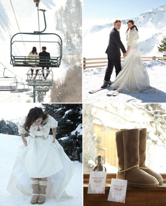 mariée en Ugg Oncedailychic.blogspot.ca